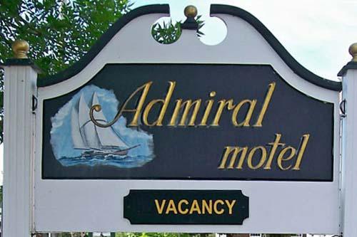 Admiral Motel entrance sign