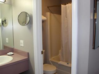 motel bathroom with shower