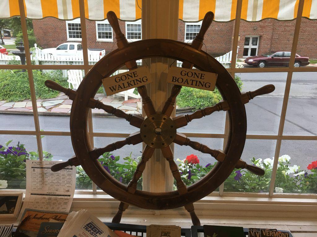 Vintage Boat Wooden Steering Wheel